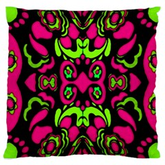 Psychedelic Retro Ornament Print Large Cushion Case (single Sided)