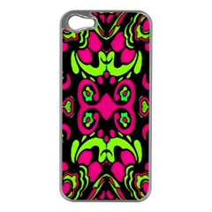 Psychedelic Retro Ornament Print Apple Iphone 5 Case (silver)