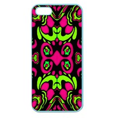 Psychedelic Retro Ornament Print Apple Seamless Iphone 5 Case (color)