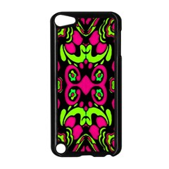 Psychedelic Retro Ornament Print Apple iPod Touch 5 Case (Black)