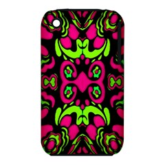 Psychedelic Retro Ornament Print Apple iPhone 3G/3GS Hardshell Case (PC+Silicone)