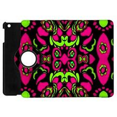 Psychedelic Retro Ornament Print Apple Ipad Mini Flip 360 Case