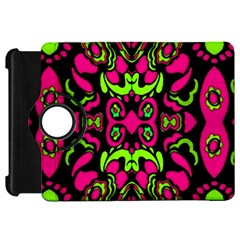 Psychedelic Retro Ornament Print Kindle Fire HD Flip 360 Case