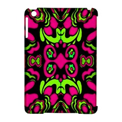 Psychedelic Retro Ornament Print Apple Ipad Mini Hardshell Case (compatible With Smart Cover)