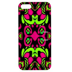 Psychedelic Retro Ornament Print Apple Iphone 5 Hardshell Case With Stand
