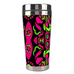 Psychedelic Retro Ornament Print Stainless Steel Travel Tumbler