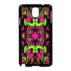 Psychedelic Retro Ornament Print Samsung Galaxy Note 3 Neo Hardshell Case (Black)