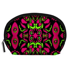 Psychedelic Retro Ornament Print Accessory Pouch (Large)
