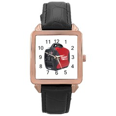 Image 717 Rose Gold Leather Watch