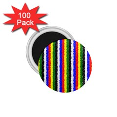 Basic Colors Curly Stripes 1 75  Button Magnet (100 Pack)