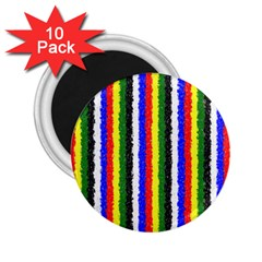 Basic Colors Curly Stripes 2 25  Button Magnet (10 Pack)