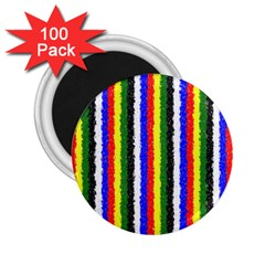 Basic Colors Curly Stripes 2 25  Button Magnet (100 Pack)
