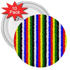 Basic Colors Curly Stripes 3  Button (10 pack)