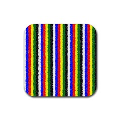 Basic Colors Curly Stripes Drink Coasters 4 Pack (square)