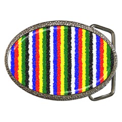 Basic Colors Curly Stripes Belt Buckle (Oval)