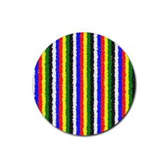 Basic Colors Curly Stripes Drink Coasters 4 Pack (round)