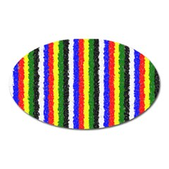 Basic Colors Curly Stripes Magnet (Oval)