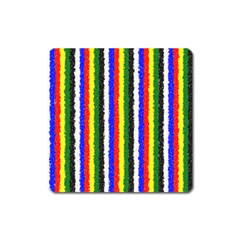Basic Colors Curly Stripes Magnet (square)