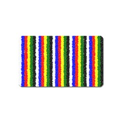 Basic Colors Curly Stripes Magnet (name Card)