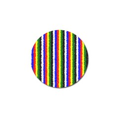 Basic Colors Curly Stripes Golf Ball Marker