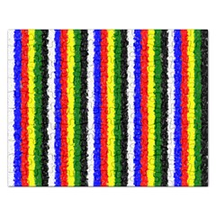 Basic Colors Curly Stripes Jigsaw Puzzle (Rectangle)