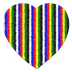Basic Colors Curly Stripes Jigsaw Puzzle (Heart)