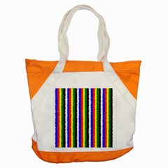 Basic Colors Curly Stripes Accent Tote Bag