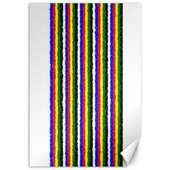 Basic Colors Curly Stripes Canvas 12  X 18  (unframed)