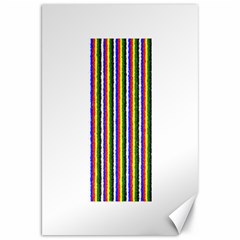 Basic Colors Curly Stripes Canvas 20  x 30  (Unframed)