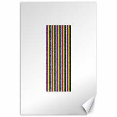 Basic Colors Curly Stripes Canvas 24  x 36  (Unframed)