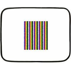 Basic Colors Curly Stripes Mini Fleece Blanket (two Sided)