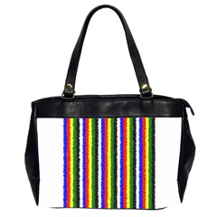 Basic Colors Curly Stripes Oversize Office Handbag (two Sides)