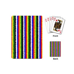 Basic Colors Curly Stripes Playing Cards (Mini)
