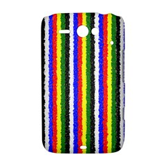 Basic Colors Curly Stripes HTC ChaCha / HTC Status Hardshell Case