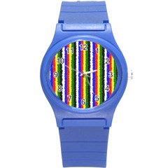 Basic Colors Curly Stripes Plastic Sport Watch (small)