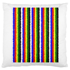Basic Colors Curly Stripes Large Cushion Case (two Sided)