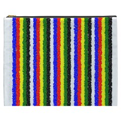Basic Colors Curly Stripes Cosmetic Bag (xxxl)