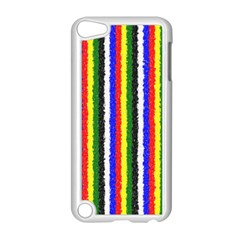 Basic Colors Curly Stripes Apple Ipod Touch 5 Case (white)