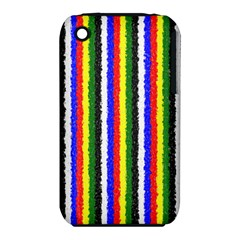 Basic Colors Curly Stripes Apple iPhone 3G/3GS Hardshell Case (PC+Silicone)