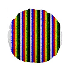 Basic Colors Curly Stripes 15  Premium Round Cushion