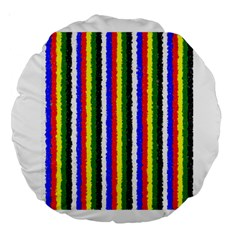 Basic Colors Curly Stripes 18  Premium Round Cushion