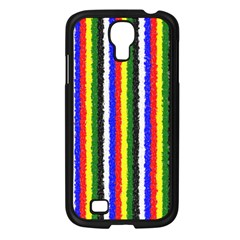 Basic Colors Curly Stripes Samsung Galaxy S4 I9500/ I9505 Case (black)