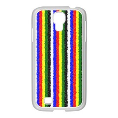 Basic Colors Curly Stripes Samsung Galaxy S4 I9500/ I9505 Case (white)