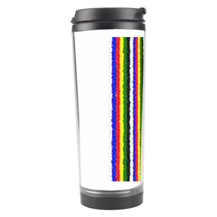 Basic Colors Curly Stripes Travel Tumbler