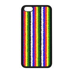 Basic Colors Curly Stripes Apple iPhone 5C Seamless Case (Black)