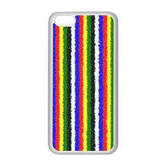 Basic Colors Curly Stripes Apple iPhone 5C Seamless Case (White)