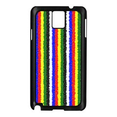 Basic Colors Curly Stripes Samsung Galaxy Note 3 N9005 Case (Black)