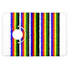 Basic Colors Curly Stripes Kindle Fire Hdx Flip 360 Case