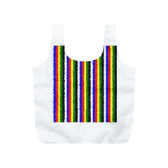Basic Colors Curly Stripes Reusable Bag (S)