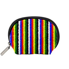 Basic Colors Curly Stripes Accessory Pouch (Small)